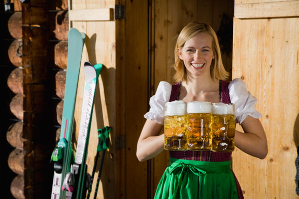 Waitress with Beer Steins